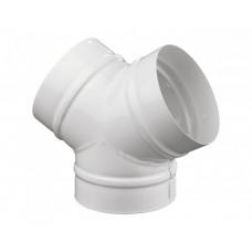 Тройник Y-образный ТМУ 100(ТМY 100) белый