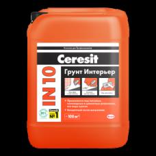 """Ceresit IN 10 Грунтовка 10 литров """"интерьер&qu ..."""