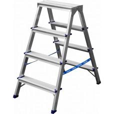 Лестница-стремянка двухсторонняя алюминиевая, СИБИН ...