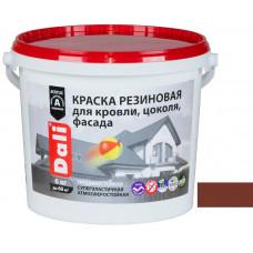 Краска резиновая DALI коричневая 3кг