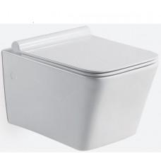 Унитаз подвесной TEKA безободной FORMENTERA rimless, тонкое сиденье с микролифтом в комплекте, белый