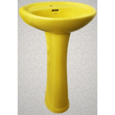 Умывальник с пьедесталом HD4, LB лимонный