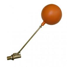 """Клапан бачка под емкость оранжевый 1/2"""""""