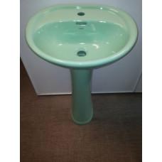 Умывальник с пьедесталом HD7LG (светло-зеленый)
