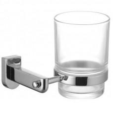 """Аксессуары для ванной, стакан стекл д/зубн щеток с настен держ, хром. """"Омега"""""""