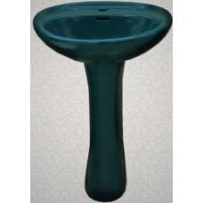 Умывальник с пьедесталом HD4, DG темно-зеленый