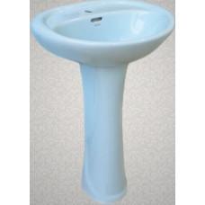Умывальник с пьедесталом HD4, LB светло-голубой