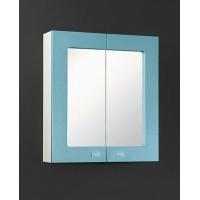 Зеркало-шкаф Акварель 60 голубой