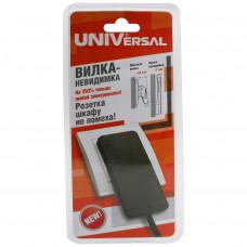 Эл. вилка UNIVersal 5565419 (250В/16А черн.невид.)