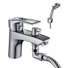 Смеситель одноручный (40 мм) на борт ванны, с коротким изливом, хром T40-38