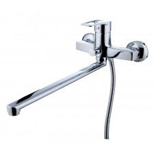 """Арди"""" смеситель для ванны, излив 300мм, с аксессуарами, картридж 35мм, хром"""
