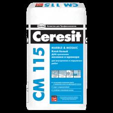 Ceresit CM 115 Белый клей для мозайки и мраморной п ...