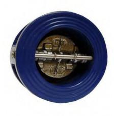 Клапан обратный двухдисковый межфланцевый,чугун 100мм