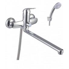 """Смеситель для ванны LEMARK LM1251C """"Плюс Эдванс"""" плоск. излив 300 мм, с аксессу, 35 картридж, хром"""